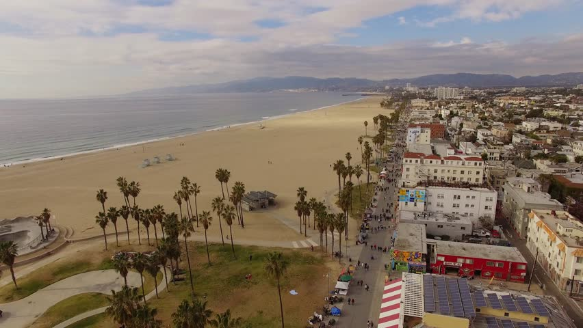 Aerial Venice Beach in Los Angeles | Shutterstock HD Video #13846988