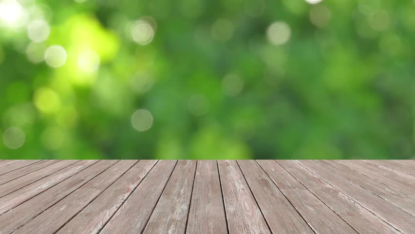 Perspective Wood And Bokeh Light Stock Footage Video 100