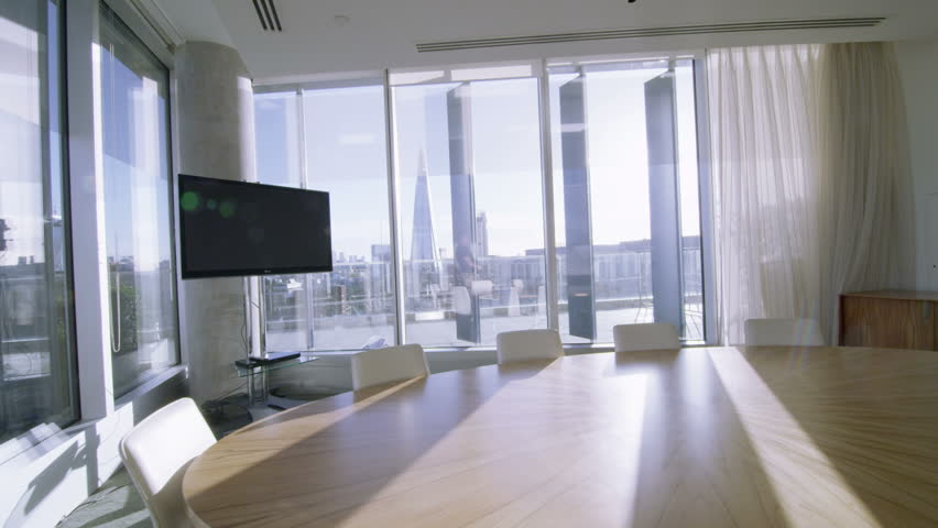 4k / Ultra HD Version Interior View Of Empty Meeting Room In A ...