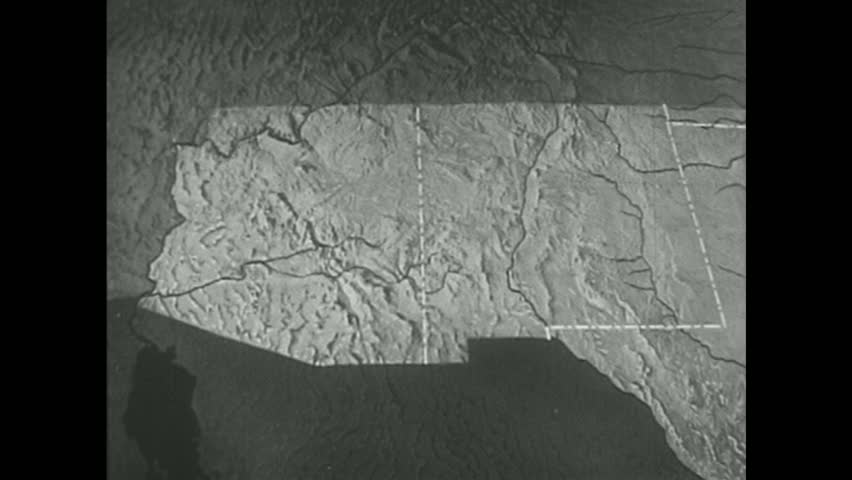 United States 1940s: a Map Stock Footage Video (100% Royalty-free) 13976960    Shutterstock