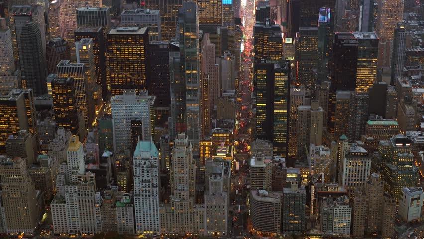 Breathtaking aerial establishment shot of city skyline. cityscape urban metropolis background  | Shutterstock HD Video #13995455