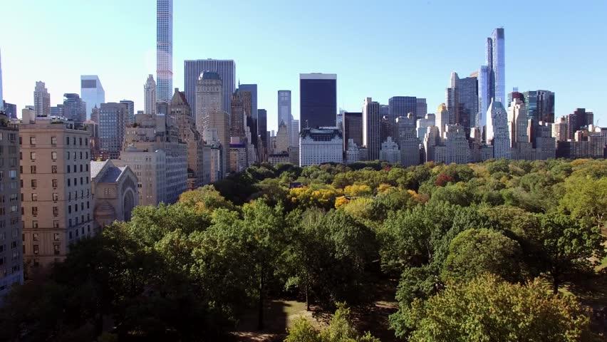 Skyline city view of modern metropolis. establishment shot of cityscape background  | Shutterstock HD Video #14004560