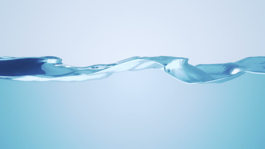 Beautiful water surface. Abstract background with animation waving of waterline. Animation of seamless loop.