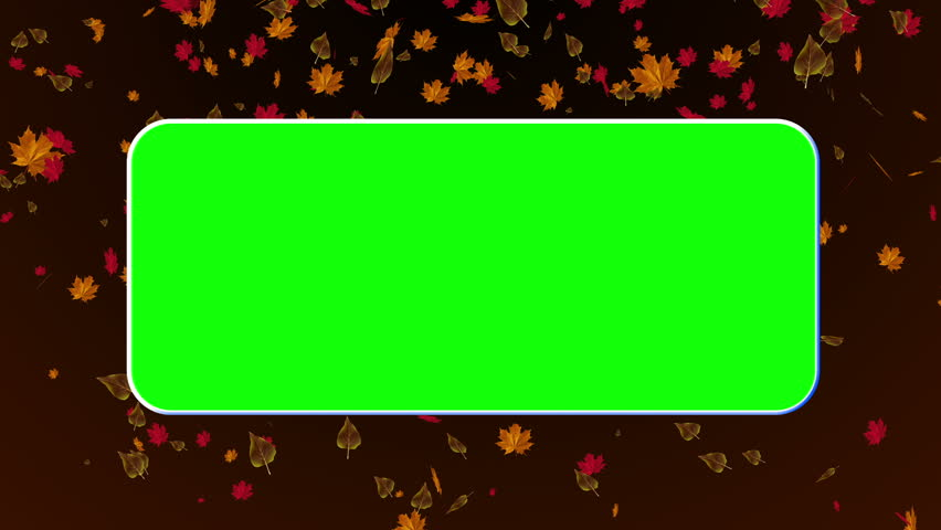 Happy Thanksgiving animation with GreenScreen and falling leaves in the BG. Use chroma key to remove green and use your footage. Can be looped in an editing software by using dissolve.