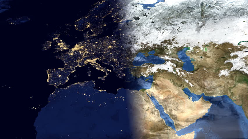 Highly Detailed Timelapse Of European Map Using Satellite Imagery - Detailed satellite imagery