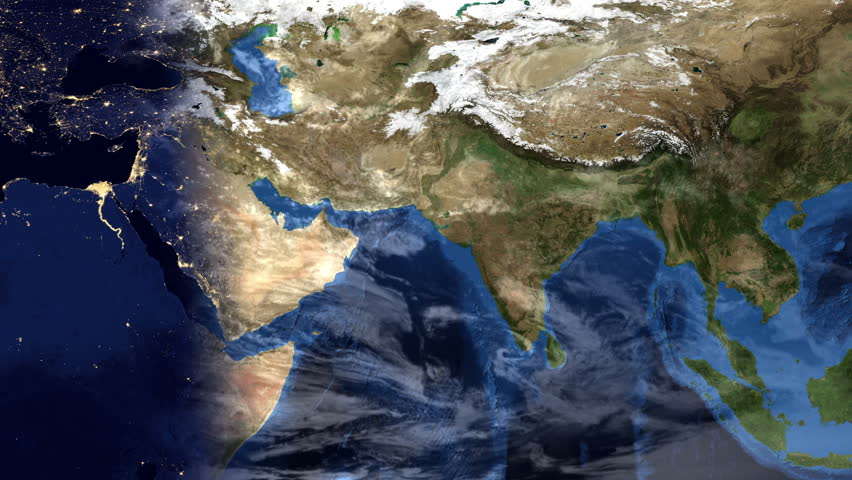 Earth zoom to china available in 4k ultra hd stock footage video middle east morning time lapse map of planet earth with clouds zoom effect into gumiabroncs Image collections