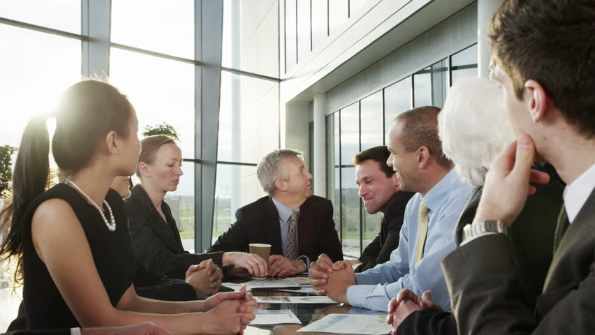 4k / Ultra HD version Cheerful diverse business group in a team meeting. Shot on RED Epic | Shutterstock HD Video #14127620