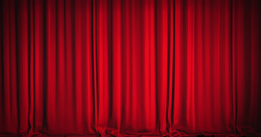 Elegant A Red Velvet Curtain Opening In A Movie Theater. An Alpha Matte Is Included  As Well. High Quality Render In 4K Format. Stock Footage Video 14162870 |  ...