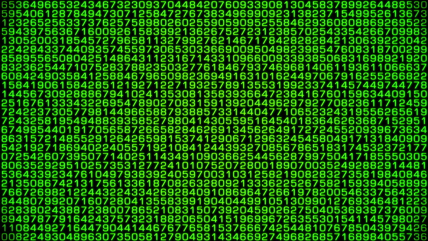 Numbers in decimal numerical system random calculations.Unique design.