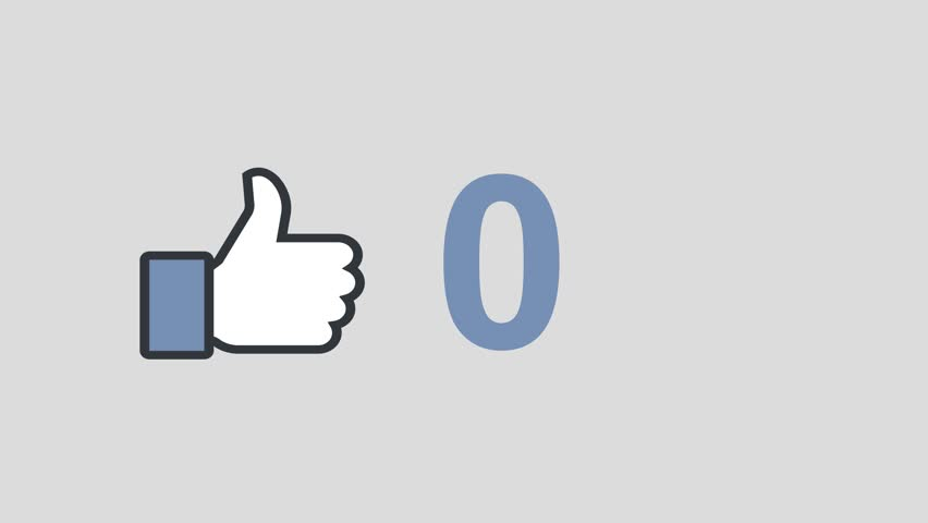 """MOERS / GERMANY - JANUARY 31 2016 : Facebook concept """"Like button"""" with increasing numbers."""