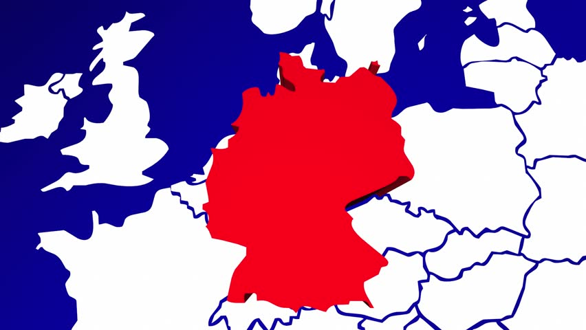 Germany Europe Country Nation Map Stock Footage Video 100 Royalty