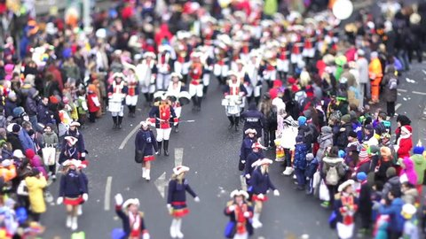 Mainz Fastnacht Parade Musician Tilt Shift Timelapse