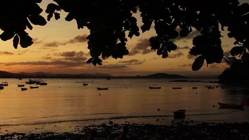 PENHA, SANTA CATARINA - BRAZIL - CASCALHO BEACH VIEW, BEAUTIFUL SUNSET.