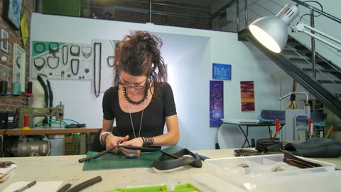 Jewelry maker at work slide