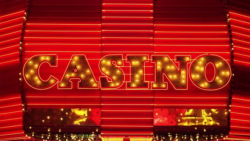 Word Casino in Neon Lights - Las Vegas