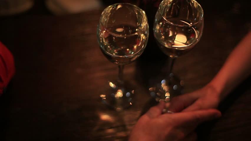 Friends Having Wine Toasting Clinking Wine Glasses