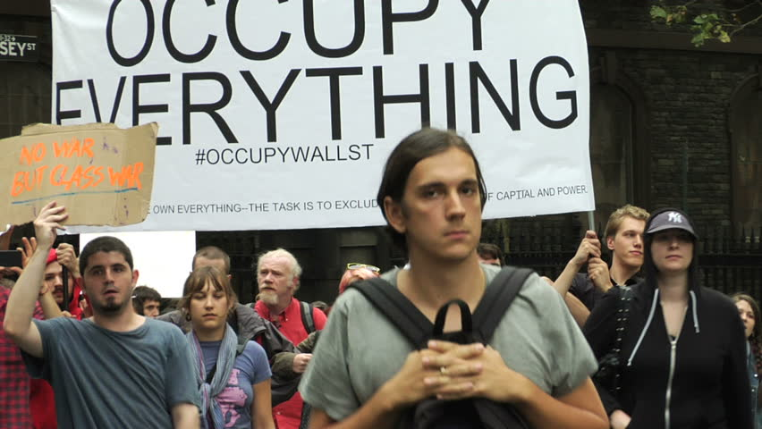NEW YORK - SEPT 30: Protesters march to One Police Plaza on Day 14 of Occupy Wall Street September 30, 2011 in New York.