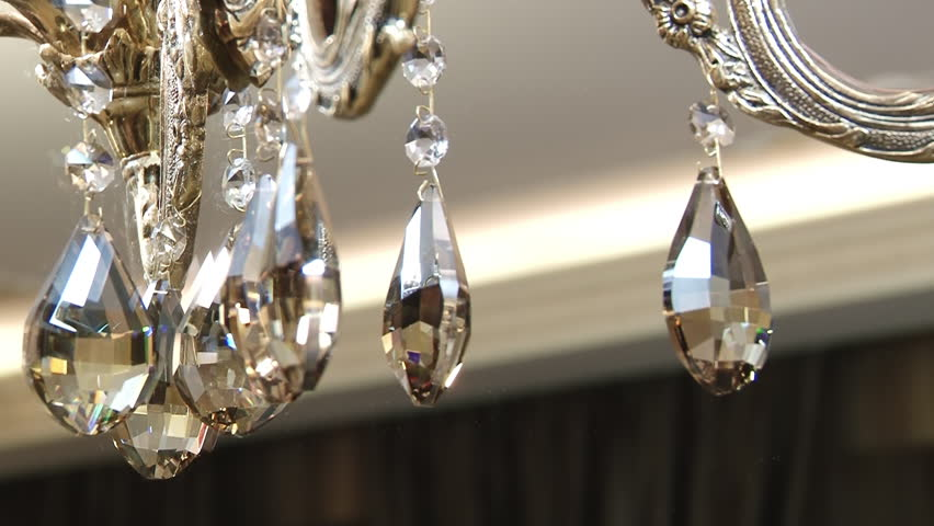 Beautiful Crystal Chandelier On The Ceiling View Showcase Of Modern Elegant Luxury Apartment Interior Design