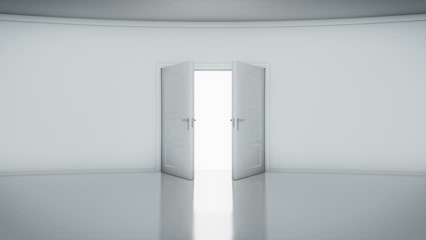 4K Door Opening with white background (alpha matte). You can replace background. : stock doors - pezcame.com