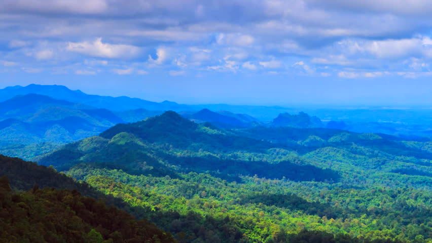 4K. Time lapse Landscape nature clouds and nimbus in Lampang Thailand | Shutterstock HD Video #14554684