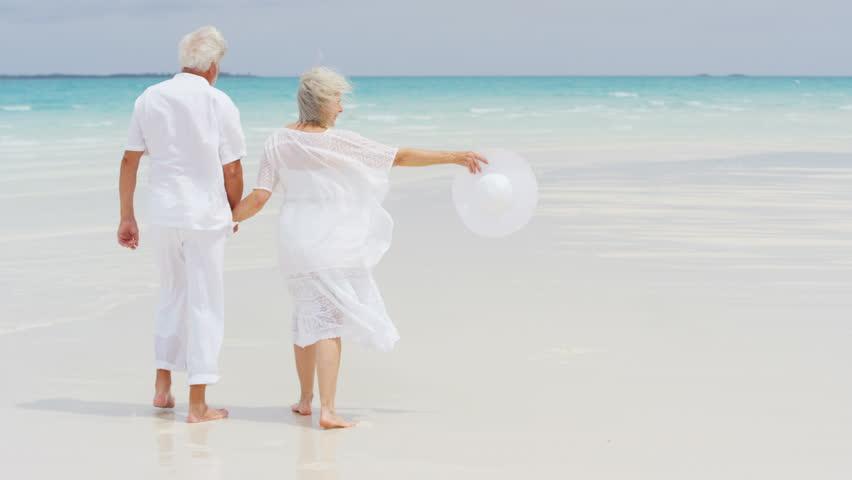 Výsledek obrázku pro seniors walking on beach