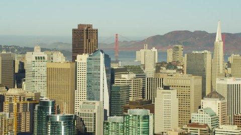 Aerial view San Francisco USA Skyline Transamerica Pyramid