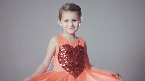 d7d3c052dbd1 Smiling Girl Fashion Portrait. Child Stock Footage Video (100 ...