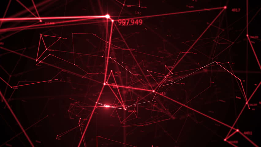 Video De Stock De Abstract Background, Geometry Surfaces, Lines, Digits