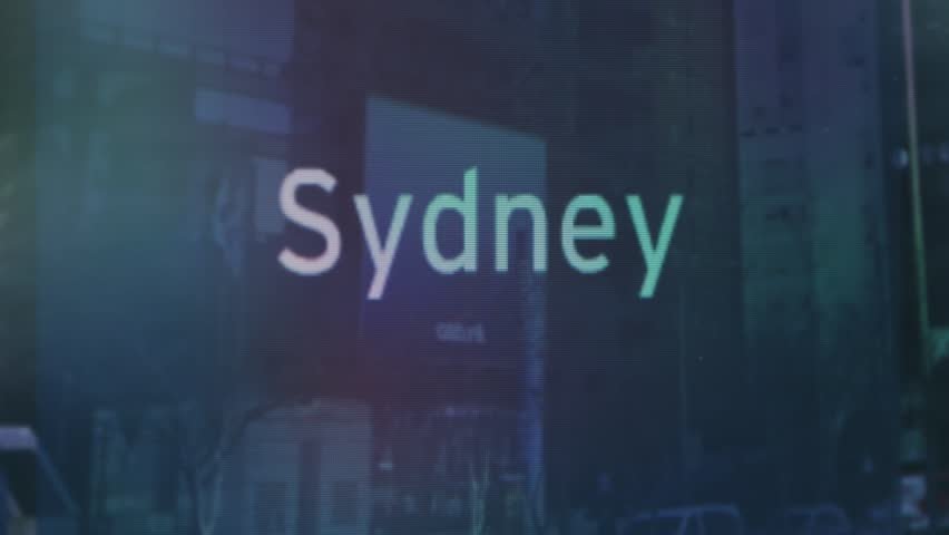 Screen with 'Sydney' Displayed | Shutterstock HD Video #14728660