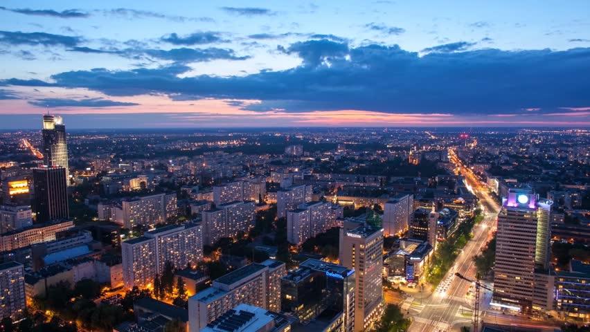 Warsaw Night Timelapse | Shutterstock HD Video #14735980