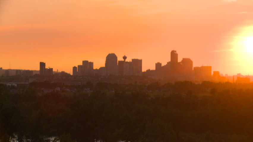 Evening, Calgary skyline | Shutterstock HD Video #1480360