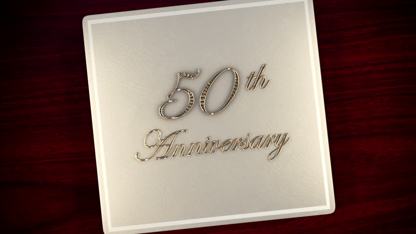Tell your story with this 50th Gold anniversary leather album with diamond inlays that opens and closes. 25th anniversary also available in the series