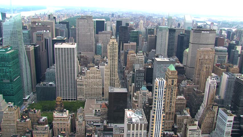 New York - Circa October 2010: Aerial view of a New York City street.   Shutterstock HD Video #1487641