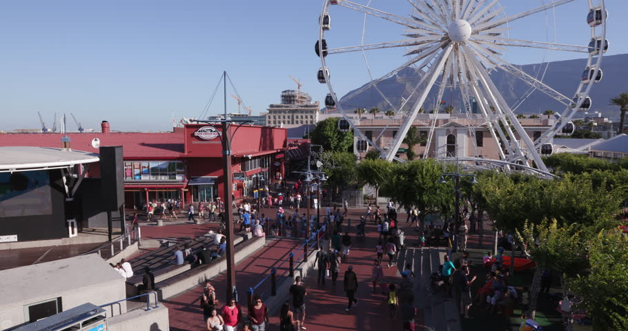 Panoramic View Of The Famous Victoria And Alfred Waterfront Cape Town