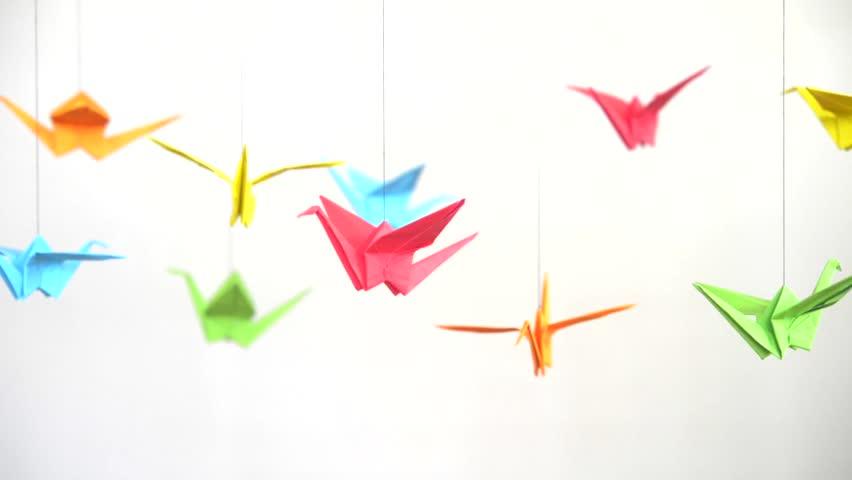 Origami Crane Stock Footage Video 14882143 Shutterstock