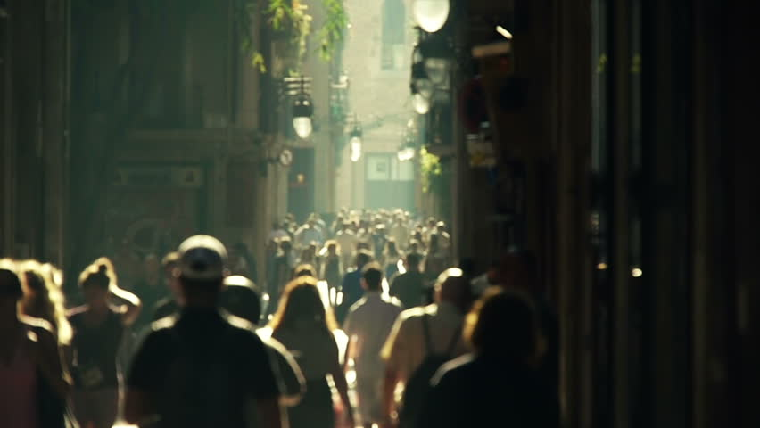 Street crowd slowmotion | Shutterstock HD Video #1492360