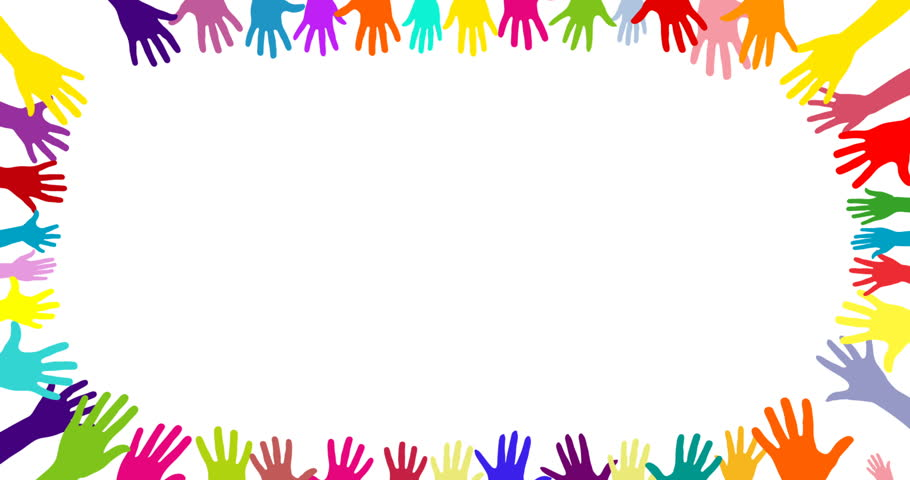 Colorful Hands Being Raised In Stock Footage Video (100