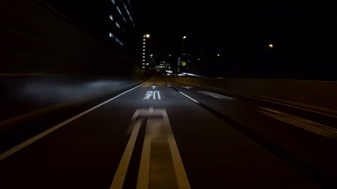 Driving Footage of a Tunnel Stock Footage Video (100% Royalty-free