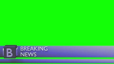 Breaking news lower third 3rd chyron l3rd loop 4k
