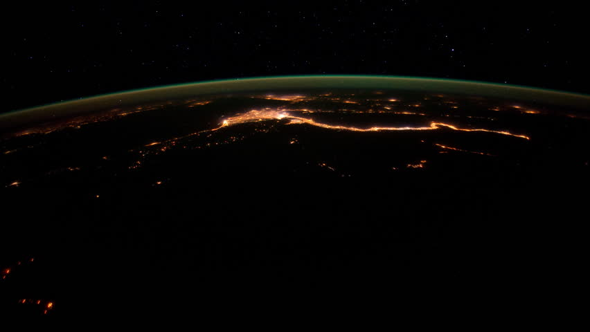 Flying over Earth at Night - from Libya to Turkey. The footage was created with Public Domain images from Nasa Expeditions that have been changed and composed into a time lapse.