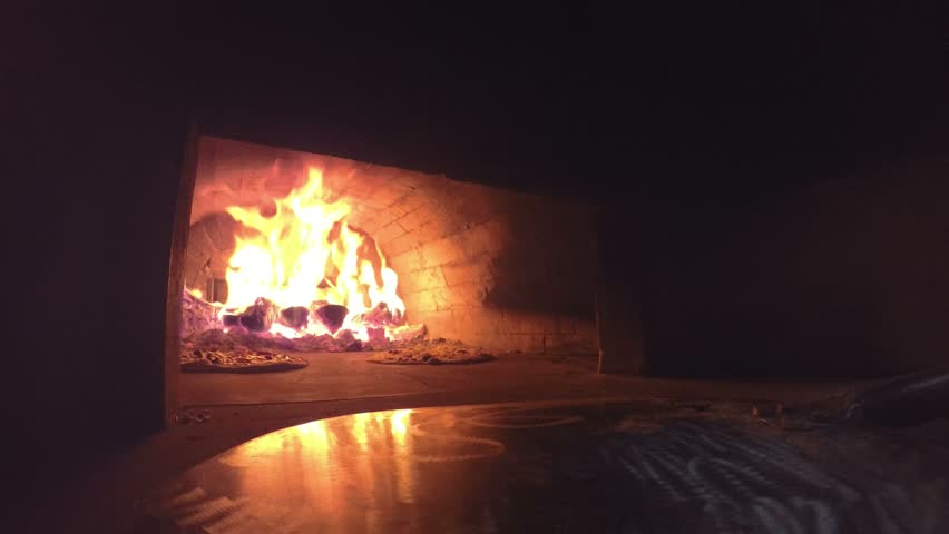 4K Fireplace With Burning Wood Logs. Warm Cozy Fire In A Hearth Or ...