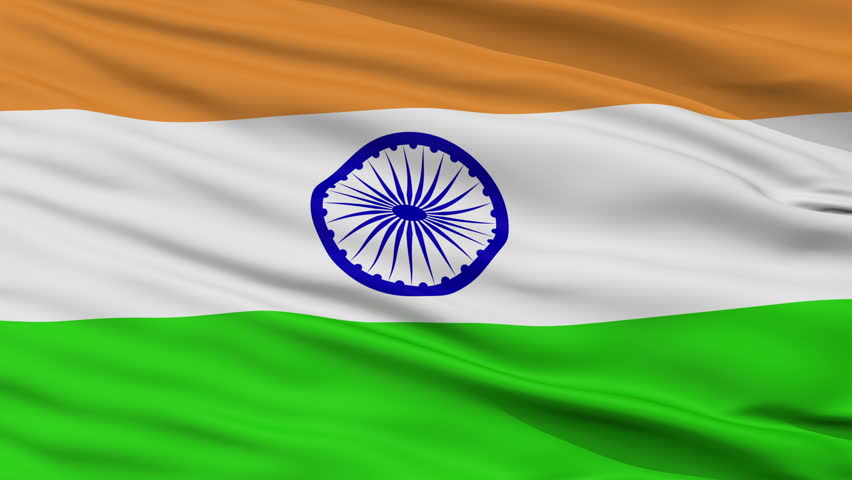 Indian Animated Flag Waving: Stock Footage Video 663292