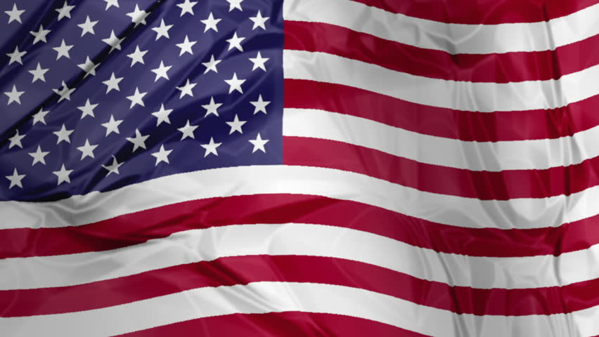 3d Waving American Flag Background Stock Footage Video