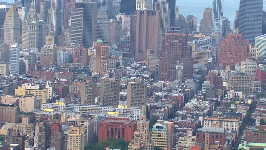 NEW YORK - CIRCA OCTOBER 2010: Aerial view of the New York City skyline circa October 2010 in New York, NY. | Shutterstock HD Video #1505300