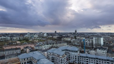 Day To Night / Jour - Nuit Timelapse Angers France
