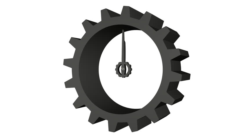Animated Train Of Gears Trundles And Cogwheels Turning