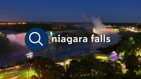 Searching for Niagara Falls information on the Internet.