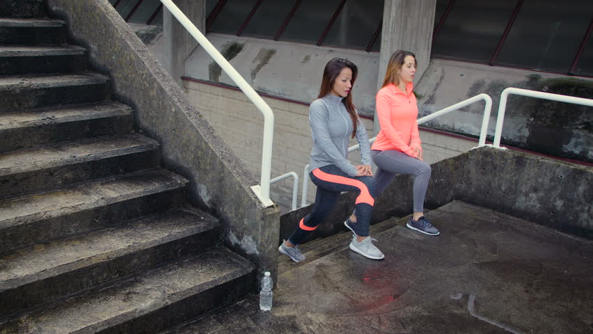 Image result for woman Walking Lunge in stairs