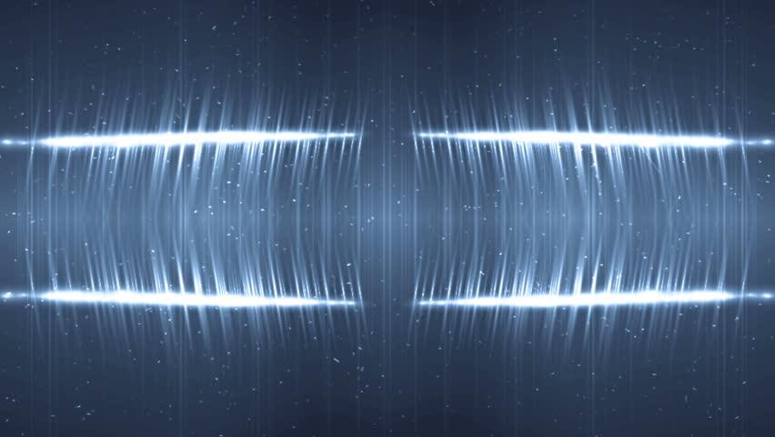 VJ Fractal blue kaleidoscopic background. Background motion with fractal design. Disco spectrum lights concert spot bulb. Light Tunnel.