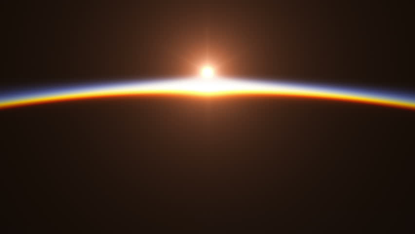Realistic Sunrise Over The Earth. 3D Animation. Ultra High Definition. 4K.  | Shutterstock HD Video #15238411